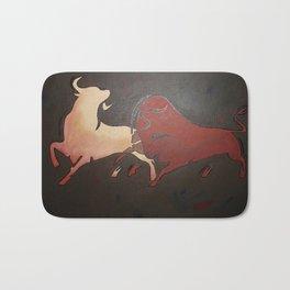 Two Fighting Bulls Bath Mat