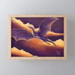 Sunset Dragon Framed Mini Art Print