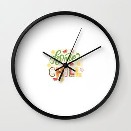 Lettering poster Wall Clock