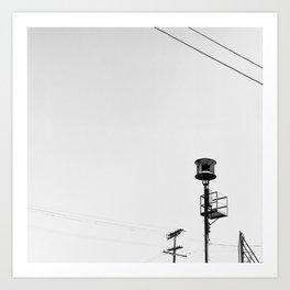 Air Raid Siren In Los Angeles Art Print