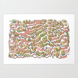 Soft Maze Art Print