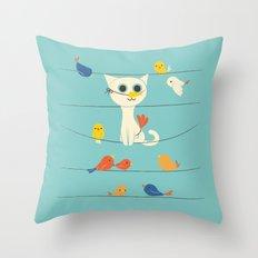 Birdwatching Throw Pillow