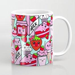 Kawaii Strawberries Coffee Mug