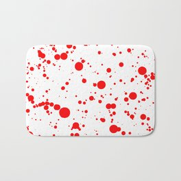 310001 Blood Red and White Painting Bath Mat