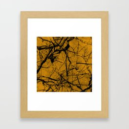 Dusty Golden Marble Framed Art Print