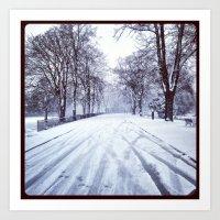 Windsor  Town Snow (Instagram) Art Print