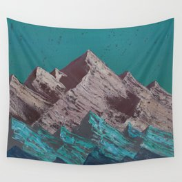 Mauve Mountains Wall Tapestry