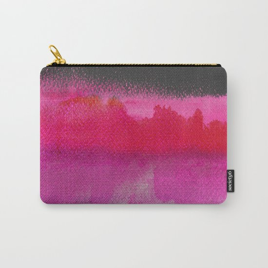 Red on Pink Carry-All Pouch