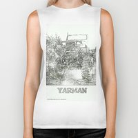 jeep Biker Tanks featuring YARMAN MONSTER JEEP by James Eye