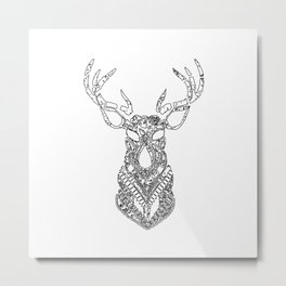 Christmas Reindeer Decorative Art Metal Print