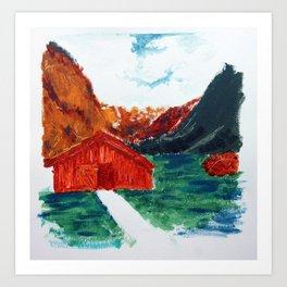 Una casita Art Print