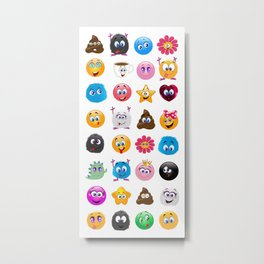 Emoji Metal Print