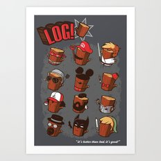 Log Art Print