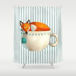 Fox Tea Shower Curtain