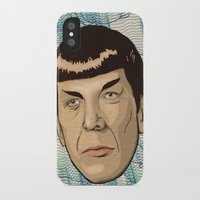 spock iPhone & iPod Cases featuring Spock by Mimi