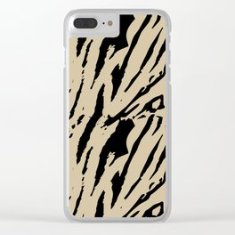 Tiger Soybean Clear iPhone Case