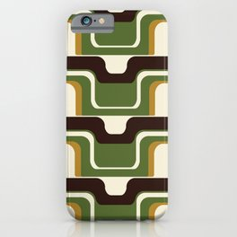 Mid-Century Modern Meets 1970's Green iPhone Case