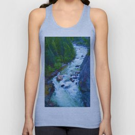 Astoria River in Jasper National Park, Canada Unisex Tank Top