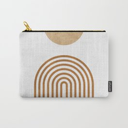 Jazzy Afternoon - Minimal Geometric Abstract - White 1 Carry-All Pouch