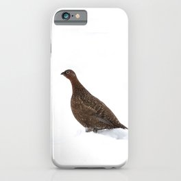red grouse walking iPhone Case