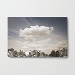Amsterdam Clouds Metal Print