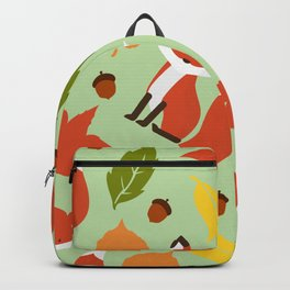 Fox Jumble - Sea Foam Backpack