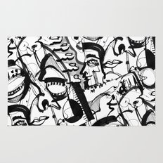 Weird Rugs 5wingerone area & throw rugs | society6