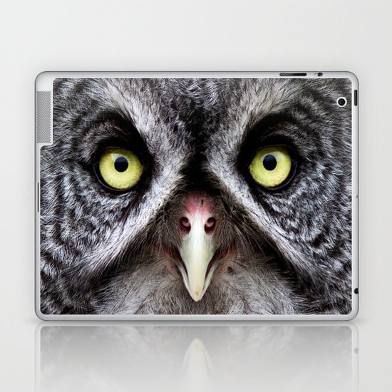 Great Gray Owl Laptop & iPad Skin