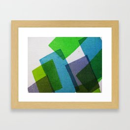 Composition Teal, Green and Violet Framed Art Print