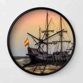 Sail Boston El Galeon Andalucia Wall Clock