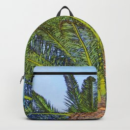 Palm Tree Fronds Backpack
