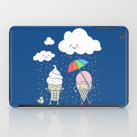 dave grohl iPad Cases featuring Cloudy With A Chance of Sprinkles by Monica Gifford