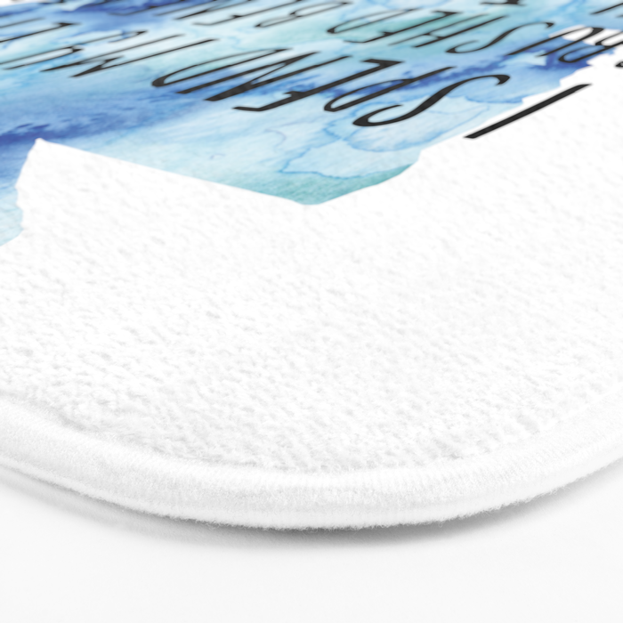 I Spend My Life Crushed Beneath My TBR! (Blue) Bath Mat