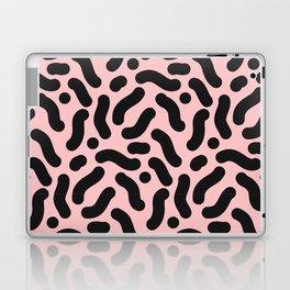 Black and Pastel Pink Squiggle Pattern Laptop & iPad Skin