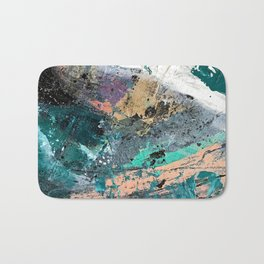 01011: colorful, abstract, wild, and unique Bath Mat