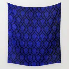 Deep Blue Design Wall Tapestry