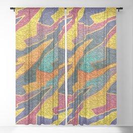 Endless Dream Loop Tessellation Sheer Curtain