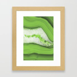 Greenery Agate Framed Art Print