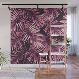 Rose palm leaves Wall Mural