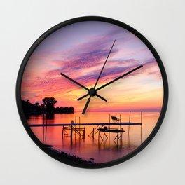 Door County Sunse Wall Clock