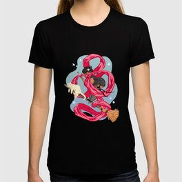 Scarf Witch  T-shirt