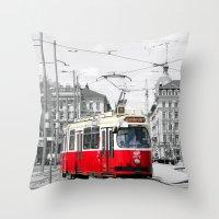 vienna Throw Pillows featuring Vienna by Ira Golenkova