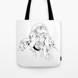 MIKE LEIGH ROUNDTABLE FACE Tote Bag