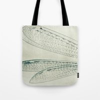 wings Tote Bags featuring wings by Bonnie Jakobsen-Martin