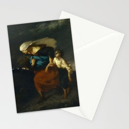 """Jean-François Millet """"Retreat from the Storm"""" Stationery Cards"""