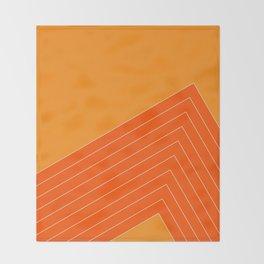 Orange Crush Range Throw Blanket