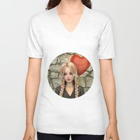 valentines V-neck T-shirts featuring Valentines Day by Design Windmill