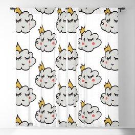 April showers king cloud White #nursery Blackout Curtain
