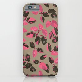 Philodendron Pink Princess Rare Tropical Houseplant Pattern iPhone Case