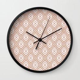 Copper Diamonds Wall Clock